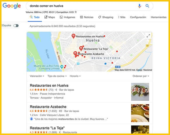 Seo Local Ejemplo